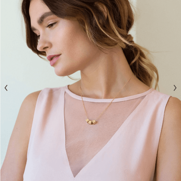 monogrammed bridesmaid gifts - block necklace