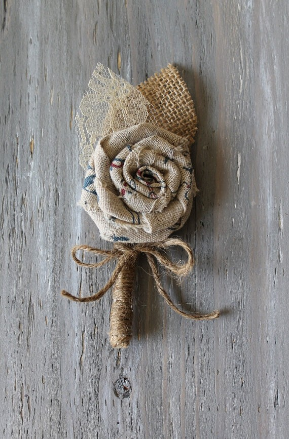fabric rolled boutonniere
