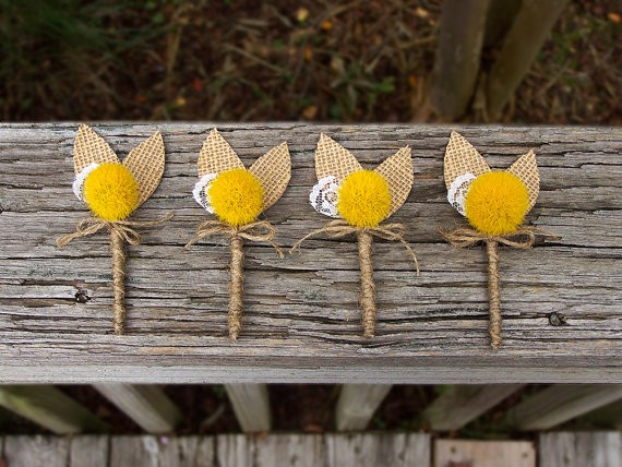 fall rustic country boutonniere by theepapergirl