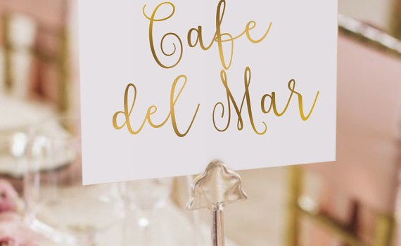 favorite cafe table names by papercharmstore