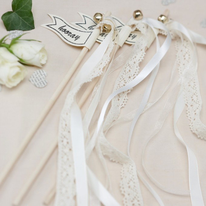 lace hooray ribbon wands