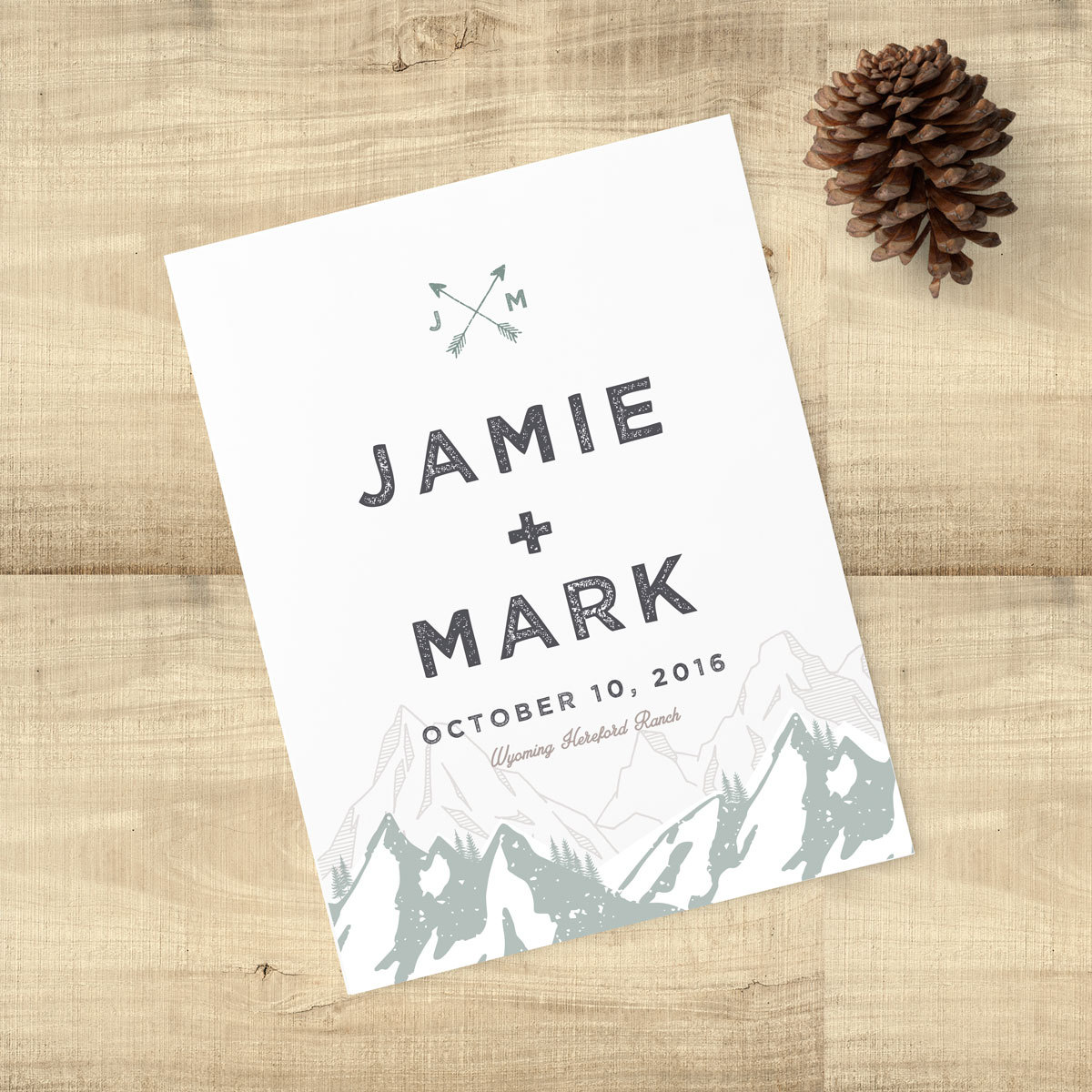 mountain save the date by PixieChicago