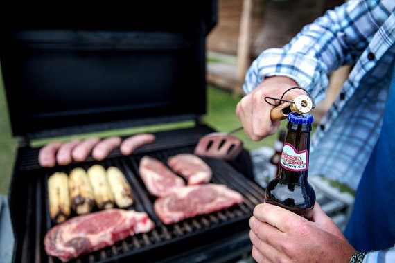 bbq tool - opens beer and flips burger