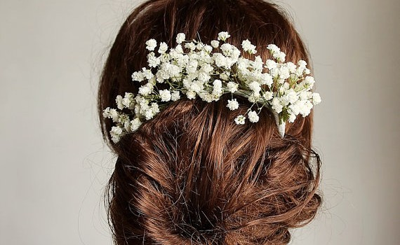 baby's breath hair crown