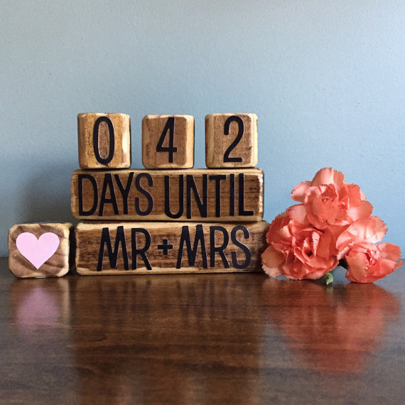 countdown blocks wedding