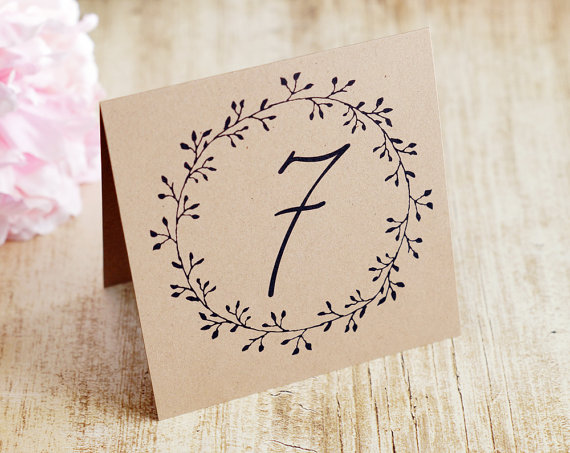 rustic table numbers by decocards | barn reception ideas for weddings via http://emmalinebride.com/reception/barn-ideas-weddings/ ‎