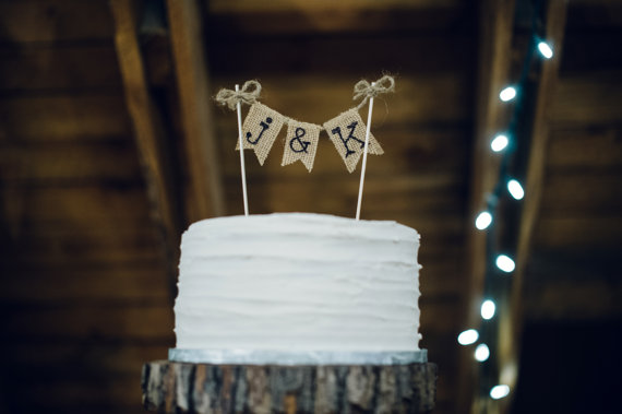 the craft and cupboard cake topper | barn reception ideas for weddings via http://emmalinebride.com/reception/barn-ideas-weddings/ ‎