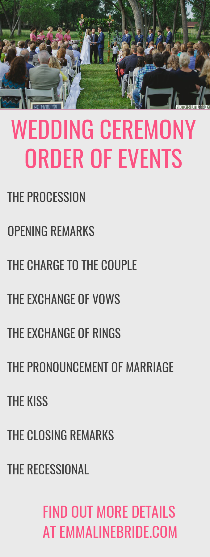 Wedding Ceremony Script Ideas.How To Ceremony Order Of Events Emmaline Bride