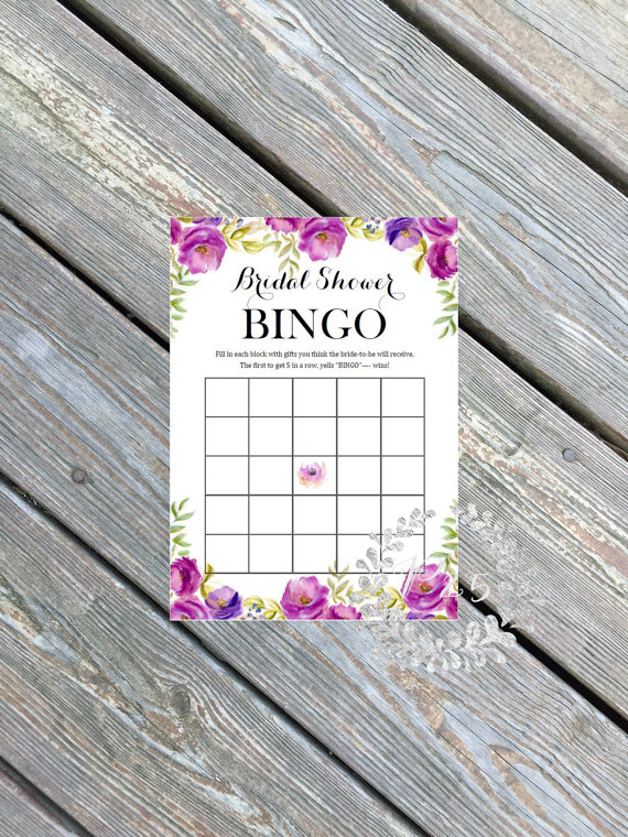bridal shower bingo | printable bridal shower games | petite25 studios | http://emmalinebride.com/bridal-shower/games-printable/