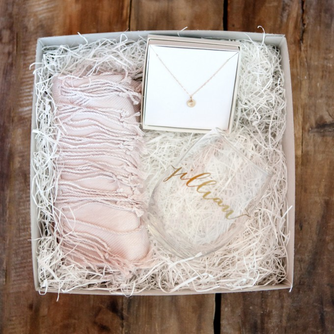 Bridesmaid Gift Box   by Deighan Design   http://emmalinebride.com/gifts/bridesmaid-gift-box/
