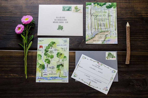nature inspired wedding invitations
