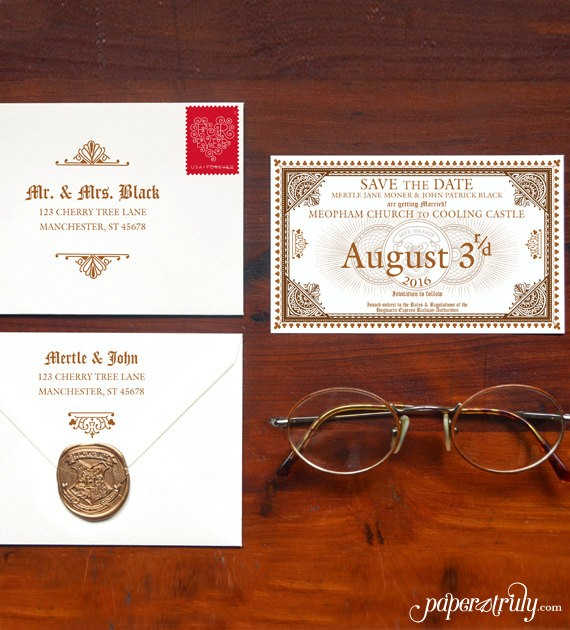save the date harry potter style