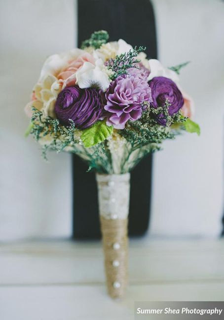 10 - alternative wedding bouquets - purple bouquet by curiousfloral