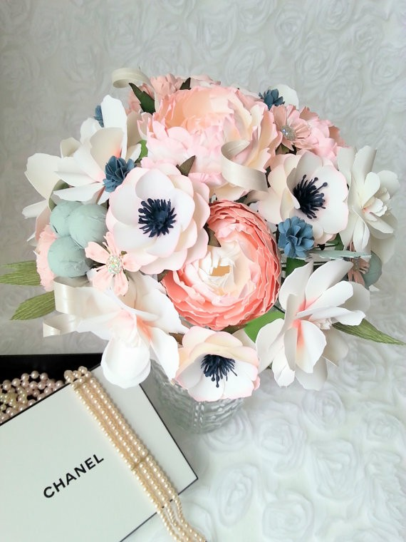 2 - paper flower bouquet by paperandpeony