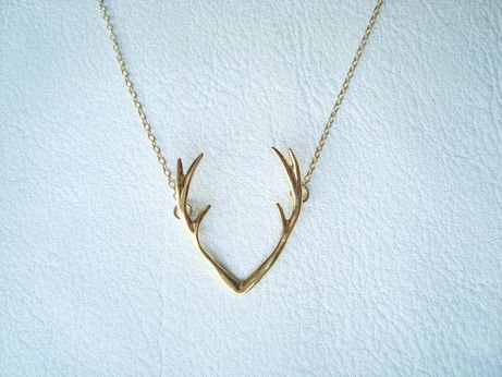 antler necklace by chillsjewellery | 75 Best Valentine's Gifts They'll Actually Want | http://emmalinebride.com/gifts/unique-valentines-day-gifts/