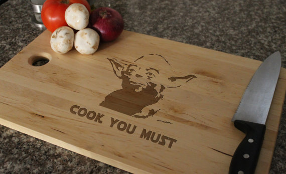 cook you must yoda cutting board by letsengrave