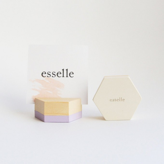 hexagon place card holder large by esselleSF