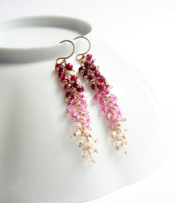 ombre valentines day earrings by laurastark