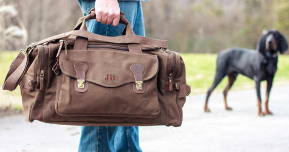 personalized valentines day duffle bag for him by heritagewedding