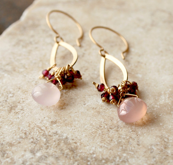 pink drop earrings valentines day gifts laura stark