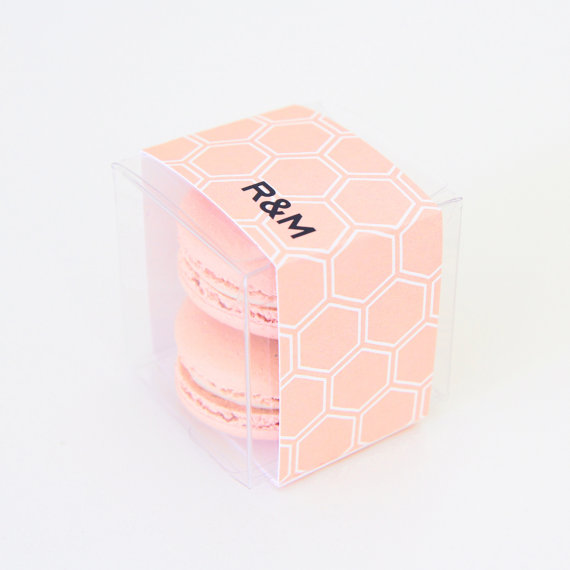 sweetpapershoponetsy hexagon favor boxes for macarons