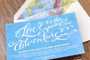 travel theme invite by margotmadison