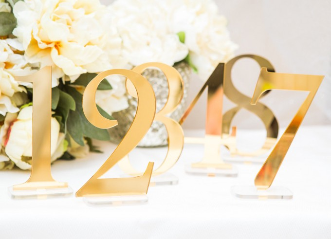 Why you need table numbers for your wedding | table number by zcreate design | via http://emmalinebride.com/reception/do-you-need-table-numbers/