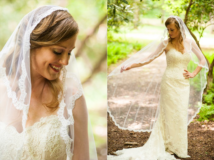 bride flowing veil spring wedding | Kelly and Paul's Rustic Spring Wedding in Georgia (Georgia Weddings) | http://www.emmalinebride.com/real-weddings/a-magnificent-rustic-spring-wedding-in-georgia-weddings/ | photo: You Are Raven