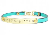 cute latitude longitude bracelets for bridesmaids