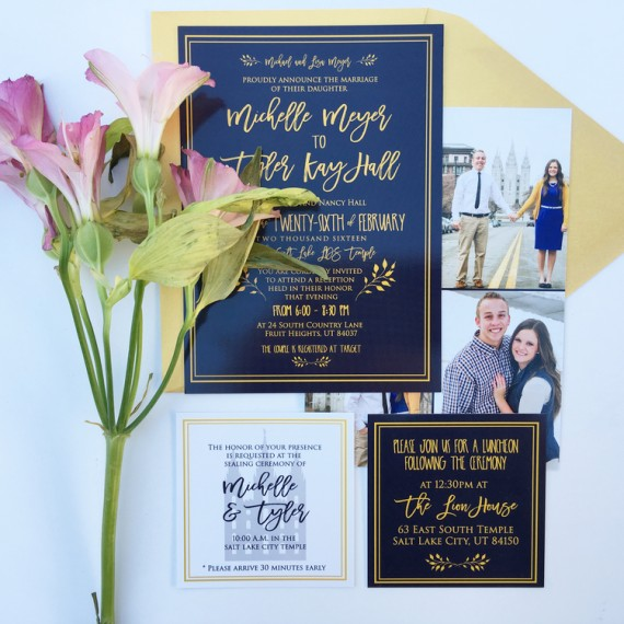elegant calligraphy invitation