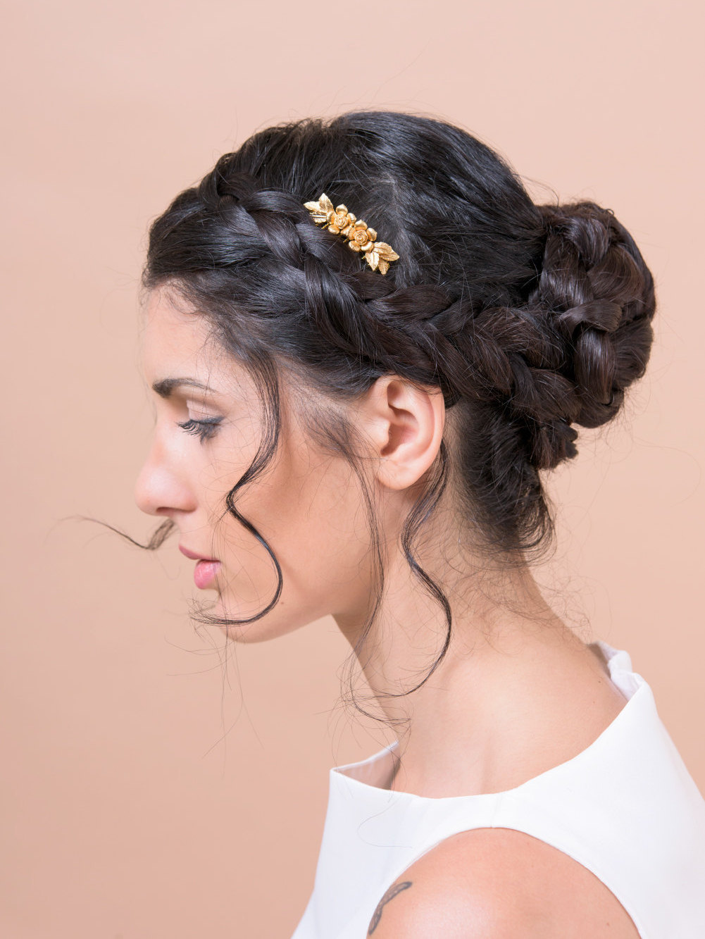 flowers and leaves hair comb by Bridal Ambiance | bridal veil alternative via http://emmalinebride.com/bride/bridal-veil-alternatives/   | any hairstyle