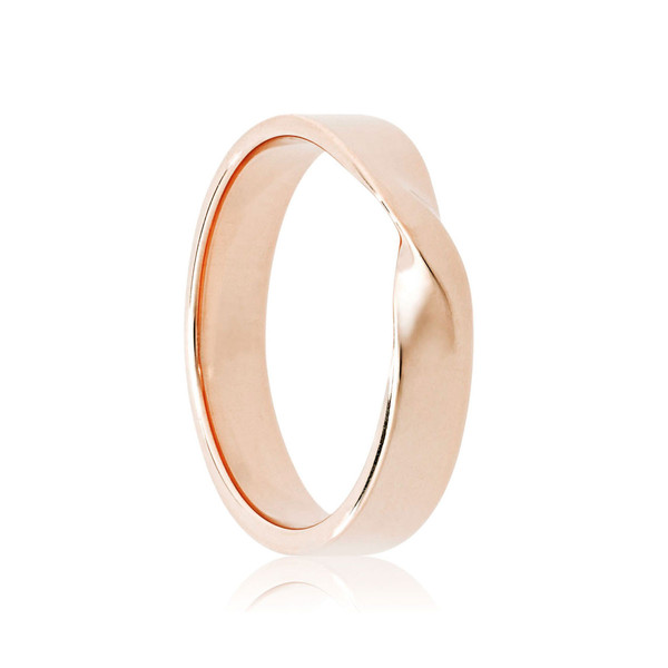 gold mobius wedding band
