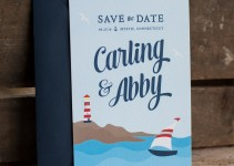 nautical save the date by starboardpress