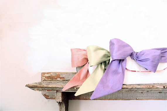 pastel clutch with bow