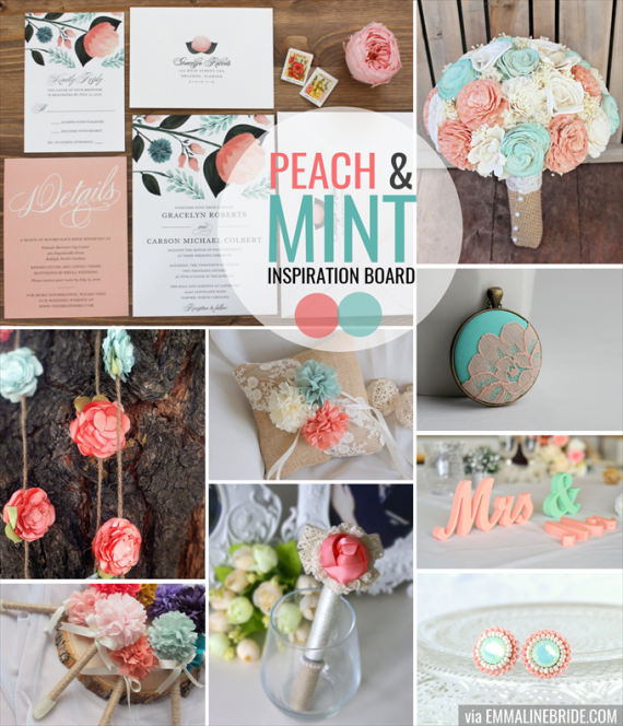 peach-mint-wedding-inspiration-board