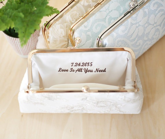 personalized embroidered clutch bags