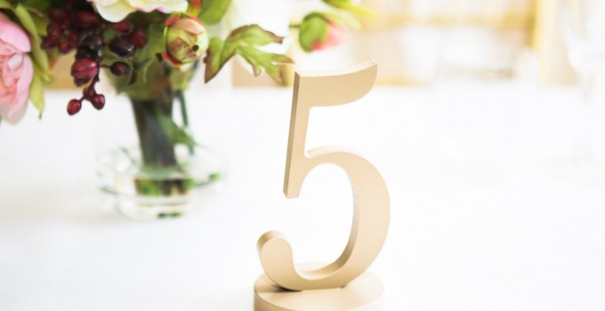 table number five gold
