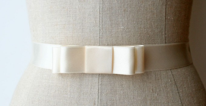bridal bow sash