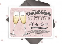 champagne bachelorette party invitations by ohsoparty