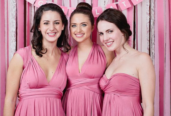 dusty pink bridesmaid dress by thejerseymaid