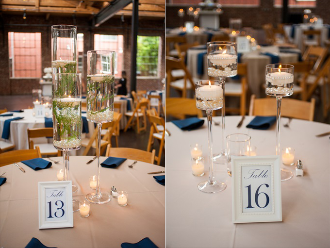 wedding centerpieces numbers One Pretty Wedding at the Foundry at Puritan Mill (Real Weddings) | Atlanta Georgia foundry mill weddings | http://www.emmalinebride.com/real-weddings/one-pretty-wedding-at-the-foundry-at-puritan-mill-real-weddings/ | Photo: You Are Raven
