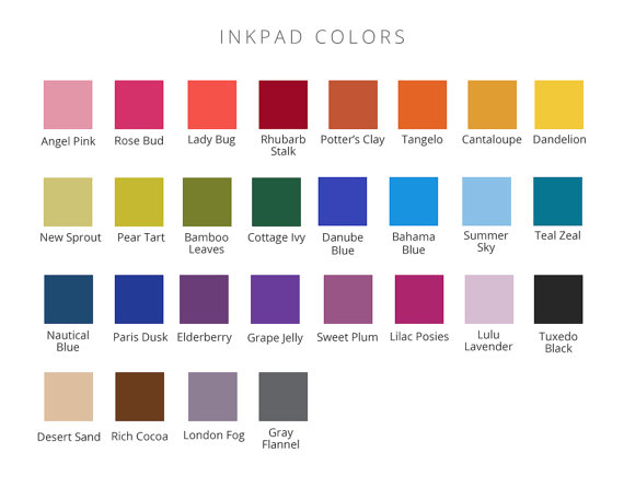 inkpad colors for Harry Potter guest book print