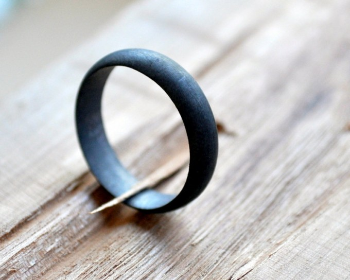 oxidized men's wedding band | unique wedding bands for men