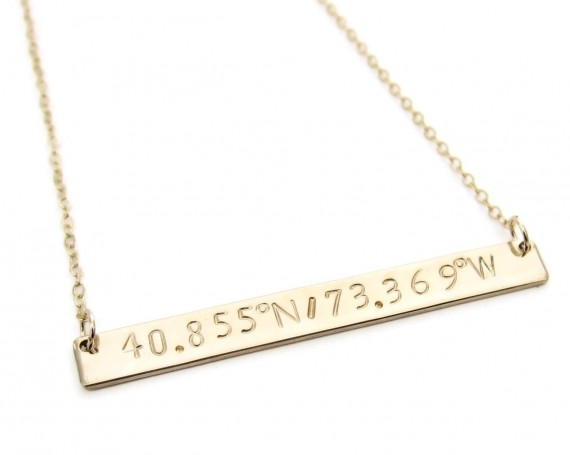 personalized bar necklace by The Modern Bazaar