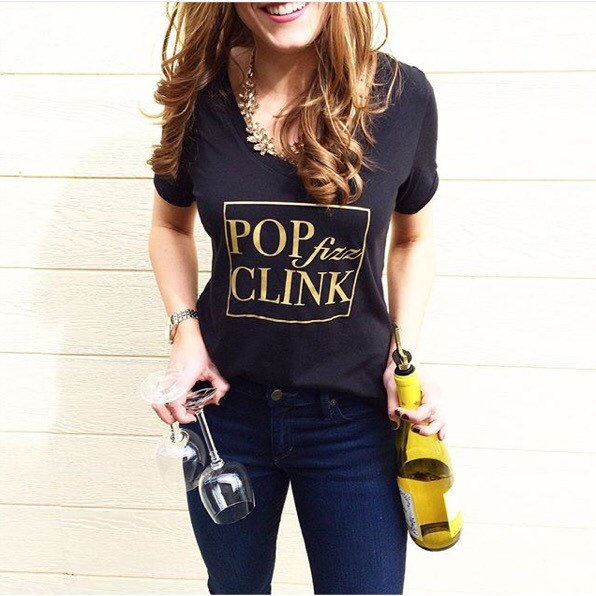 pop fiz clink t shirt by thecouturekitten | champagne bachelorette party ideas http://emmalinebride.com/how-to/plan-champagne-bachelorette-party