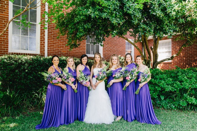 purple bridesmaid dresses infinity