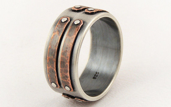 silver copper men's ring GilleriJewel