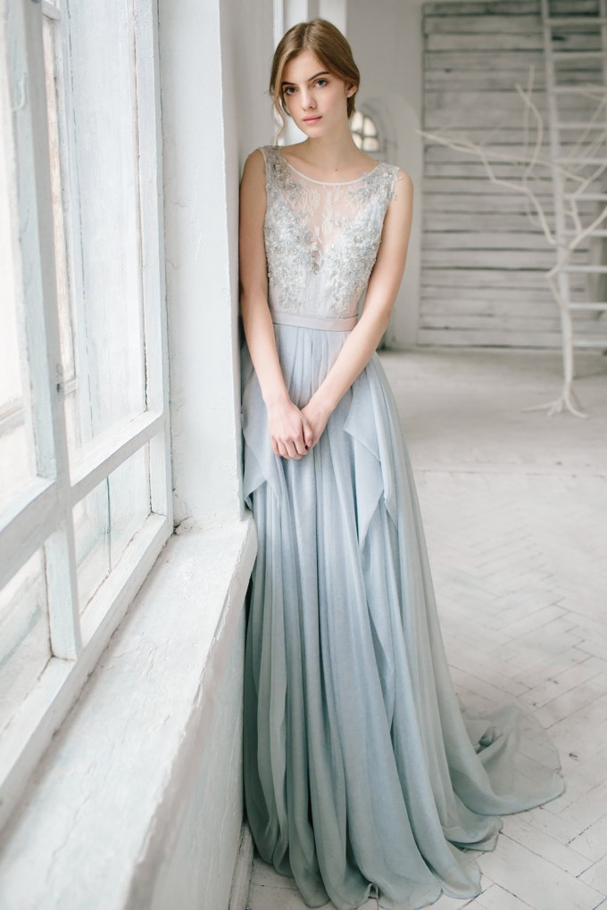 9 colorful wedding dresses prove you don 39 t have to wear white for White and silver wedding dresses