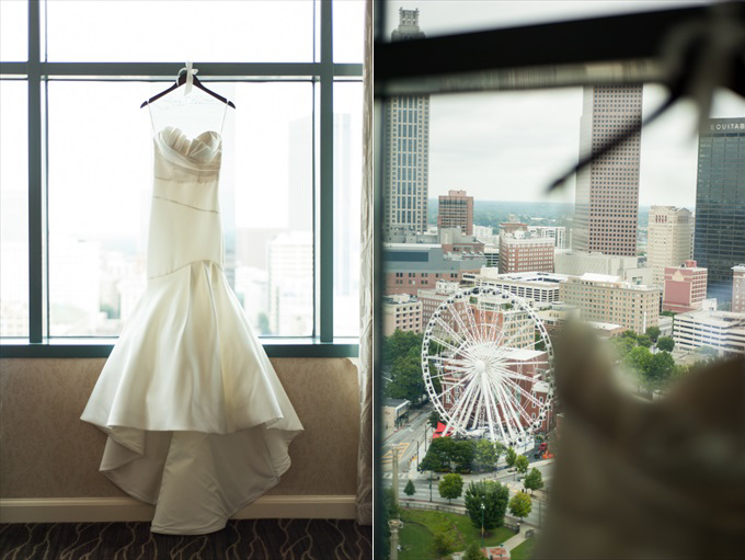 skyview atlanta wedding dress One Pretty Wedding at the Foundry at Puritan Mill (Real Weddings) | Atlanta Georgia foundry mill weddings | http://www.emmalinebride.com/real-weddings/one-pretty-wedding-at-the-foundry-at-puritan-mill-real-weddings/ | Photo: You Are Raven