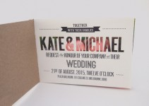 booklet style wedding invitation - 3